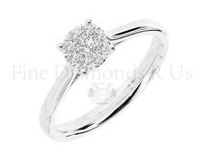 0.25CT Cluster Set Round Brilliant Diamond Engagement Ring Available in Platinum
