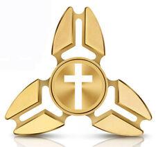 Fidget Spinner Tri-Spinner Aluminum Metal Cross