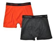 Calvin Klein Boys Black Orange 2 Pack Boxer Briefs Size 4/5 6/7 8/10 12/14 16/18