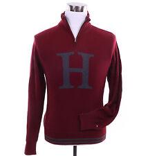Tommy Hilfiger Men 1/2 Half Zip Mock Turtle Neck H Logo Sweater - Free $0 Ship