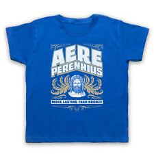 AERE PERENNIUS MORE LASTING THAN BRONZE LATIN PHRASE KIDS BOYS GIRLS T-SHIRT TEE