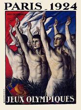 Jeux Olympiques Paris 1924 Vintage Poster Print on Paper or Canvas