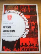 04/11/1970 Arsenal v Sturm Graz [Inter Cities Fairs Cup, Double Season] (Slight