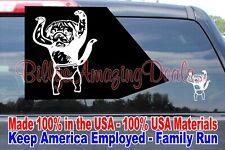 "5"" Up Puppy Baby Monkey Pug Vinyl Decal Wall Car Window Dew Funny Sticker TV"