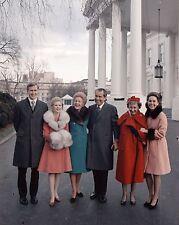 President Richard Nixon with family and Mamie Eisenhower White House Photo Print
