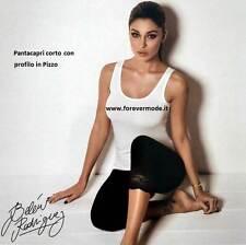 Pantacapri donna Jadea in cotone elasticizzato con bordo gamba in pizzo art 4319