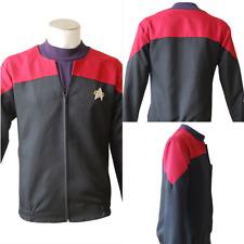 Star Trek Cosplay Voyager Command Captain Costume Red Color Shirt Jacket Uniform