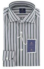 New $600 Luigi Borrelli Green Shirt - Extra Slim - (EV06RC40551)