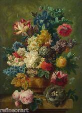 Paulus Theodorus van Brussel Flowers In A Vase Giclee Canvas Print