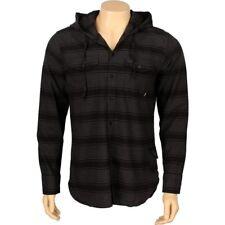 JSLV Hoodlum Woven Long Sleeve Shirts (black / charcoal) MWV8002BLCH