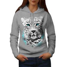 Wellcoda Tiger Animal Wild Cat Womens Hoodie, Noble Casual Hooded Sweatshirt