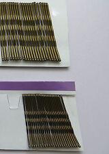 48 BOBBY KIRBY PIEDINI BRONZI Brown Capelli Grip Clip Morsetti Salon ONDULATO diapositive
