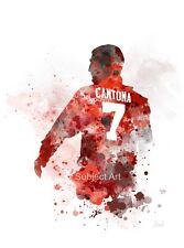 ART PRINT Eric Cantona illustration, Manchester United, Football, Sport, Gift