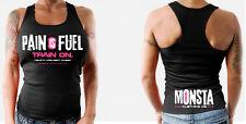 Monsta Clothing Womens Bodybuilding Gym Wear Racerback Pain is Fuel Tank Top New