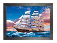Sails BARCO CON VELAS Rough MAR 2 Viajes De Aventura Ocean Póster agua Piratas