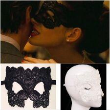 Máscara Halloween negra veneciana sexy de encaje catwoman 50 sombras