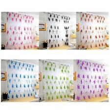 Big Flower Tulle Blackout Curtains Window Screening Drape Panels Bedroom Decor