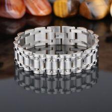 Men's 18k plaqué or en Acier Inoxydable Chaîne Bracelet Bangle Bracelet 17 mm large