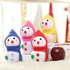 Lovely Snowman Christmas Tree Decor Kids Doll Ornaments Plush Pendant Toy YD