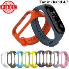 For Xiaomi Mi Band 3 & 4 Adjustable Bangle Soft Silicone Strap Wristband Bracelet