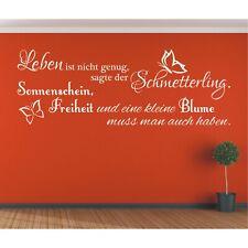 Wandtattoo Spruch  Leben ist Schmetterling Wandsticker Wandaufkleber Sticker 1