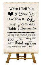 Shabby Chic I Love You Personalizado Boda Cartel / Afiche