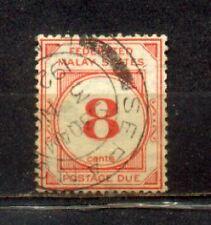 1924 Malaya Federated Malay States Postage Due 8c