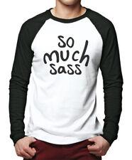 So Much Sass  - Fashion Hipster Cute Tumblr Men Baseball Top
