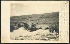 RP Postcard Water Spillway Owen NY - DPO 3 1908  S358