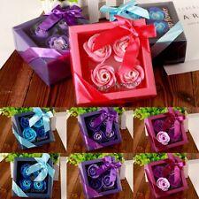 Luxury Handmade Soap Flower Bouquet Roses Carnations Gift Box Wedding UK