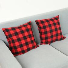 Buffalo Plaid Cushion Cover Cotton Christmas Pillow Covers Sofa Room Sofa Decor
