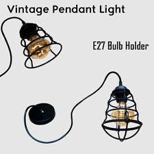 E27 Screw Rose Ceiling Light Rubber Pendant Lamp Holder Fitting Lighting UK