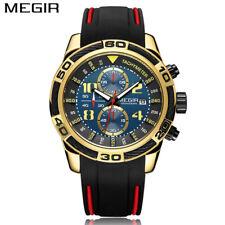 40a135aea95b Reloj de Pulsera Reloj Deportivo De Silicona megir de lujo para hombre  Cronógrafo Cuarzo Militar