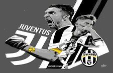 Juventus Football Poster Print T1327 |A4 A3 A2 A1 A0|