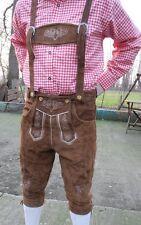 Trachtenset 4tlg Trachenhose hellbraun Baumwoll Hemd rot weiss Kniestrümpfe Neu