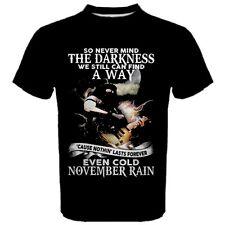 Guns and Roses GNR November Rain Rock Music Men's T-Shirt TEES NR1