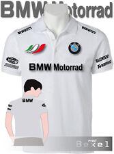 POLO BMW MOTORRAD 2 TEAM ITALIA DISP. FELPA TSHIRT FIAT ALFA ROMEO COL BIANCO