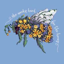 Bee T-shirt S M L Xl 2Xl Blooming Short Sleeve New Blue