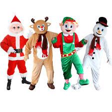 ADULTS CHRISTMAS MASCOT COSTUME ELF REINDEER SNOWMAN SANTA PLUSH FANCY DRESS