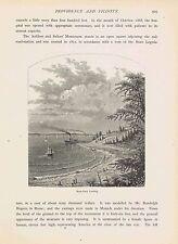 MARK-ROCK LANDING  -- RHODE ISLAND - 1872 Page of History Engraving