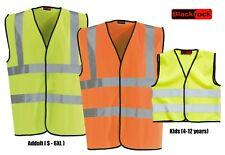 Blackrock Safety Hi Vis Viz Vest High Visibility Waistcoat - Yellow & Orange