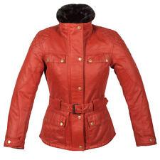 Spada Hartbury Motorcycle Motorbike Waterproof Textile Ladies Jacket - Rouge