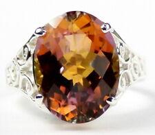 Twilight Fire Topaz, 925 Sterling Silver Ladies Ring, SR049-Handmade