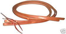 Western harness leather 1/2 x 8 split reins w/ tie ends custom quality USA