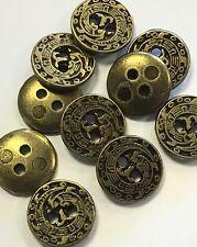18 Ligne / 11.5mm Real Metal Bronze Antique Effect  Pack Of 10/20