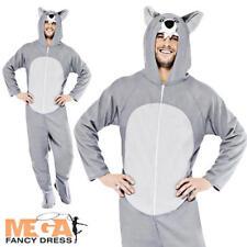 Wolf Adults Fancy Dress Animal Onesie Halloween Fairytale Mens Ladies Costume