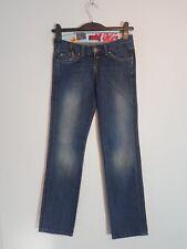 """CROSS Damen Hüft-Jeans """"F-425-006""""  Straight  Leg W26-W34  blau  NEU mit Etikett"""