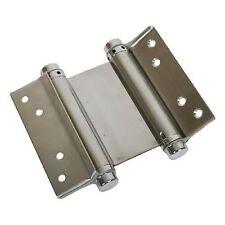 """3"""", 4"""", 5"""", 6"""" Cerniera a molla a doppia azione raso st/acciaio (COPPIA)"""