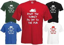 Stuff The Turkey Off Pub T Shirt Joke Tee Christmas Top Xmas Funny Food Gift