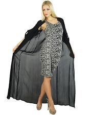 Bimba Women Long Black Georgette Shrug Sheer Cover Up Drape